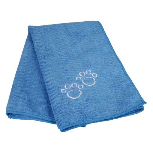 Dog Towel Blue Folded