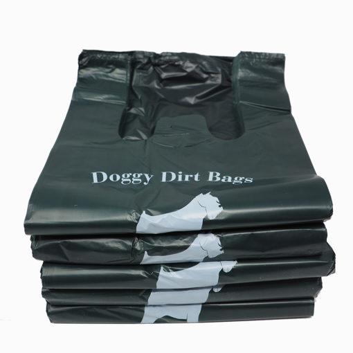 Dog Waste Bags Dark Green Tab Top