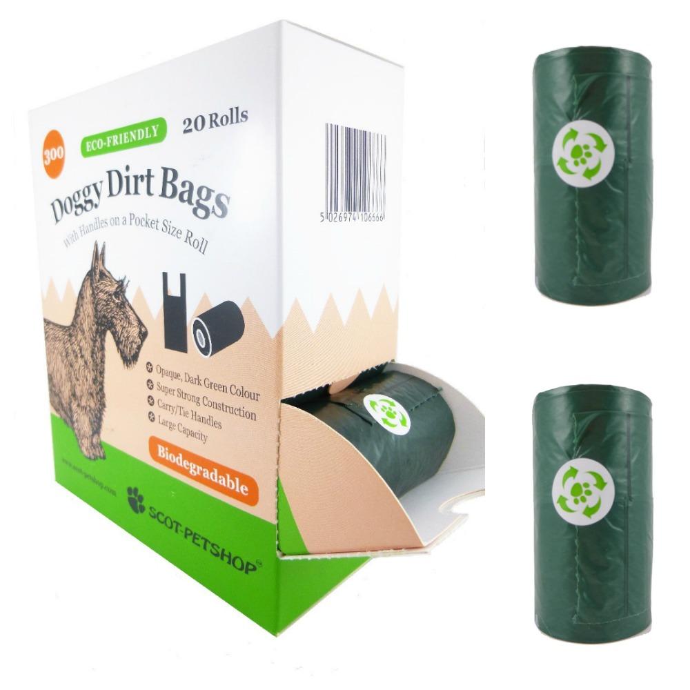 Scot Petshop Biodegradable Tie Handle Dog Poo Bags Rolls