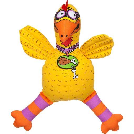Suspicious chicken dog toy