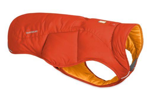 Quinzee insulated dog coat Sockeye Red